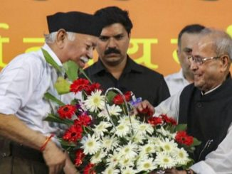 Pranab Mukherejee at RSS Ceremony